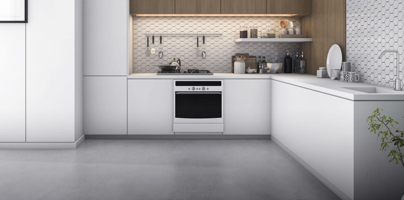 L shaped modular kitchen design india